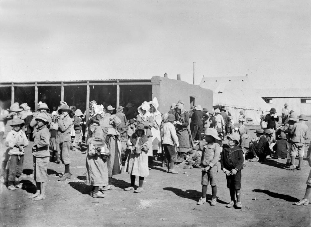 Feature image is of a British concentration camp for Boer women and children during the Boer war.